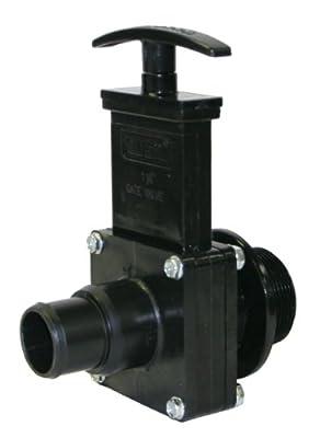 "Valterra 7134 ABS Gate Valve, Black, 1-1/2"" Stepdown Pool Hose x MPT by Valterra Products"