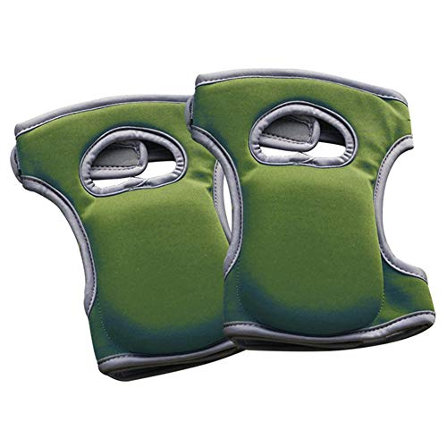 qwertyu Garten-Knieschoner, 1 Paar Home Knieschoner für Gartenreinigung, verstellbare Riemen, Knieschoner zum Schrubben von Böden, Arbeiten, weicher Komfort grün