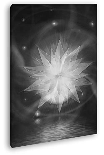 deyoli hellleuchtender Cristal Estrella Efecto: Blanco y Negro como Lienzo, diseño Enmarcado...