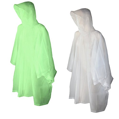 Totes Raines Children's Rain Poncho 2 Pack (Clear/Lime)