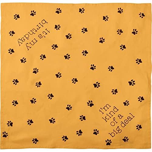 Primitives by Kathy Bandana reversible para mascotas – It's My Birthday and I'm Kind of A Big Deal, 16 x 16 pulgadas, pequeño