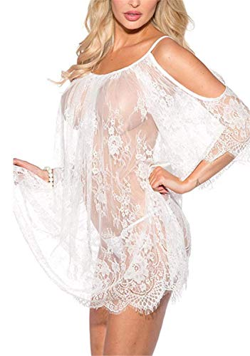 Donna Night Warming Sheer Wetlook Camicia da Notte Lace Mode di Marca Night Warming She Camicette Reiz Warming Babydoll Lingerie Lingerie Set for Donna Bikini Cover Up