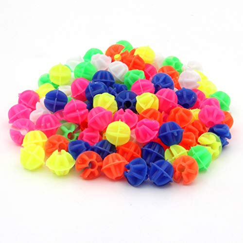 KLOUD City Assorted Colors Bike Bicycle Wheel Spokes Plastic Clip Bead/Spoke Derections (105pcs Round Bead)