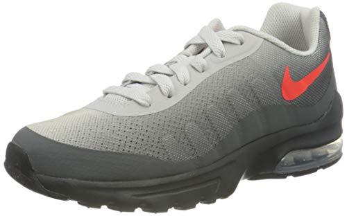 Nike Air MAX Invigor Print BG, Zapatillas, Dark Grey/Bright Crimson/Vast Grey/Black, 35.5 EU