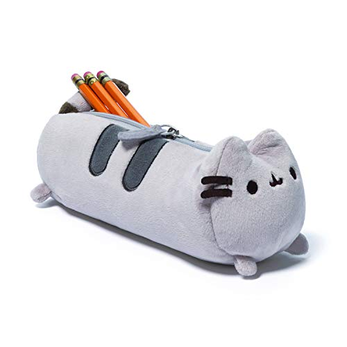 GUND Pusheen Cat Plush Stuffed Animal Accessory Pencil Case, Gray, 8.5'