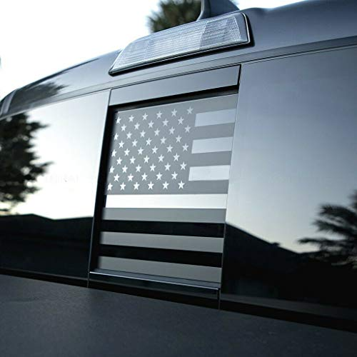USA American Flag Vinyl Decal Rear Sliding Window Flag Sticker Fits Any Truck or Vehicle