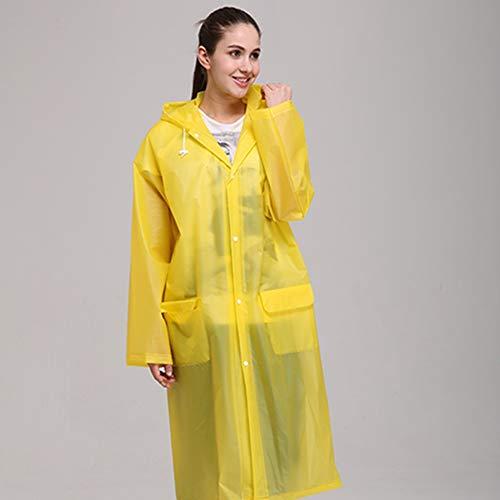 Egurs Regenponcho Unisex Eva Verdikke wasbare transparante draagbare regenjas herbruikbare regenjas met capuchon voor outdoor-activiteiten