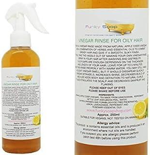 Funky Soap Vinagre Enjuague para Cabello Graso , 100% Natural y sin Productos Químicos, 250ml