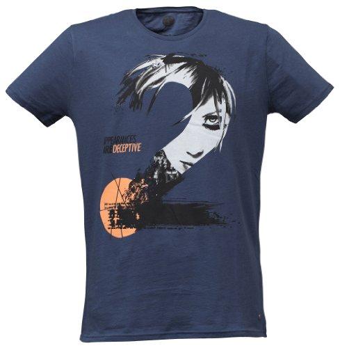 40by1, Herren T-Shirt, No. 2, Girl, Navy, 40/1-GAS-12-015, GR XXL