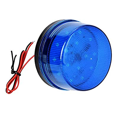 12V Blue Alarm Signal, Blue LED Strobe Beacon Alarm Flashing Light without Sound Explosion-proof, Can be Used in the Field for Home Security Alarm System