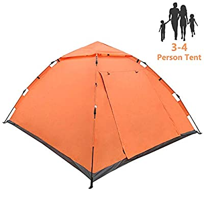 LETHMIK Pop Up Tent | Tents for Camping 2 3 4 Person - 30 Seconds Easy Up Camping Tent - Waterproof, Lightweight Instant Tent for Outdoor Hiking - Includes Carry Bag