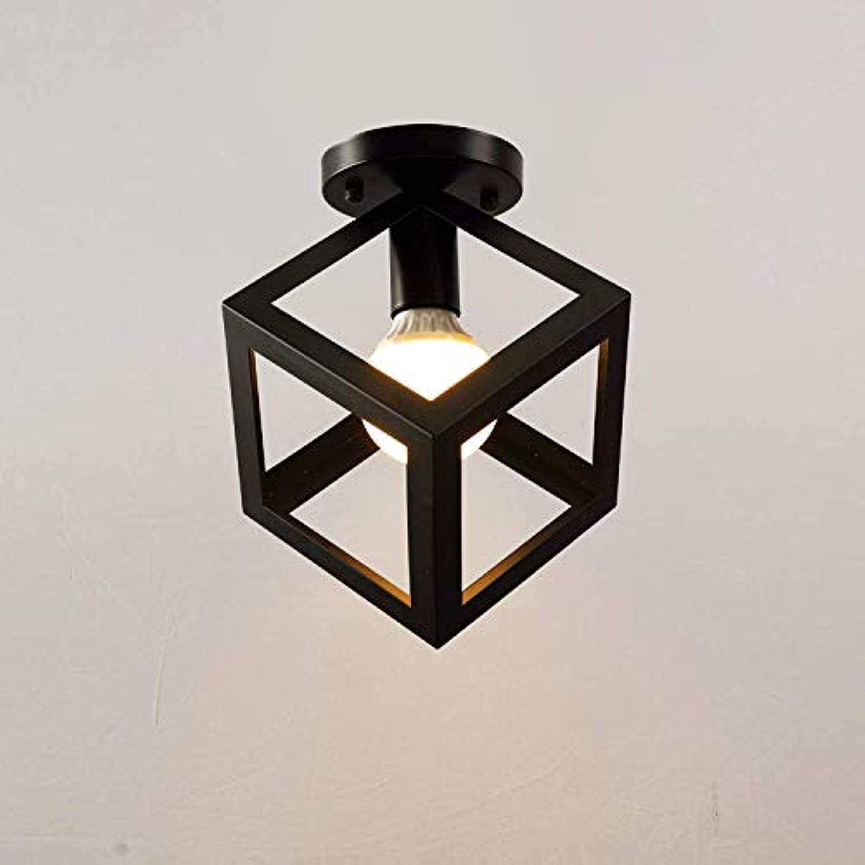 Deckenleuchte Modernes Würfel-Design mit 1 Beleuchtung E27 Deckenleuchte Deckenleuchte Deckenleuchte Küchenleuchte Eisenrahmen Lampe  23 cm Schwarz lackiert