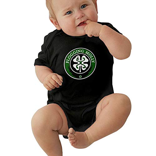 Kirito Beasley Neutral Baby Jersey Bodysuit, Baby Short-Sleeve One-Pieces Bodysuits Celtic Punk Band Flogging Molly Baby Onesies Bodysuits, Child Romper Jumpsuit Cotton Shirt 18 Months Black
