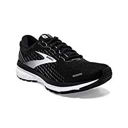 Brooks Ghost 13 Black/Blackened Pear/White 9 D - Wide