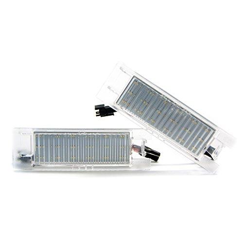 Lot de 2 ampoules LED pour plaque d'immatriculation 6000 K Éclairage xénon