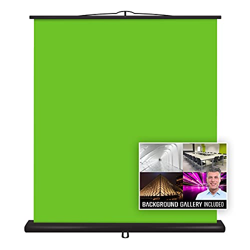 Valera Creator Green Screen – Collapsible Chroma Key Panel,+1000 Free Backgrounds Included, Portable Retractable Wrinkle Resistant Fabric Backdrop, Adjustable Height, 10 Second Setup