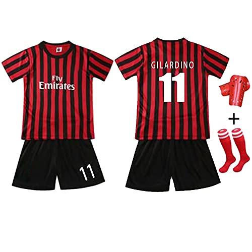 W&F Camiseta de fútbol para niños, Adriano Leite Ribeiro # 9 Conjunto de Camiseta de fútbol con Rodilleras y Calcetines (Color : B, Size : Child-2XSmall)