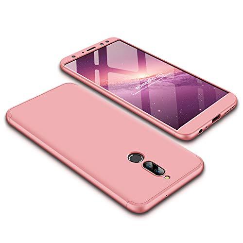 Funda Huawei Mate 10 lite,Carcasa Huawei Mate 10 lite,Funda 360 Grados Integral Para Ambas Caras+Cristal Templado,[ 360°]3 in 1 Slim Fit Dactilares Protectora Skin Caso Carcasa cover Rose Oro