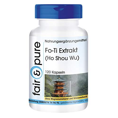 Extracto de Fo-Ti (He Shou Wu) - Vegano - Raíz de FoTi - Alta pureza - 120 Cápsulas