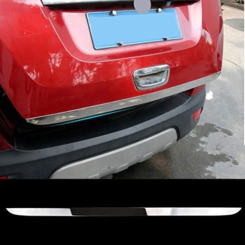 10JQK Edelstahl Auto Heckklappe Deckel Verkleidung Tailgate Lid Cover Trim für Opel Mokka 2013-2018, Back Boot Strip Aufkleber Formteil Dekoration Protektor Zubehör Styling, Chrom