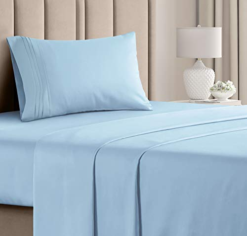 Twin Size Sheet Set - 3 Piece - Hotel Luxury Bed Sheets - Extra Soft - Deep Pockets - Easy Fit - Breathable & Cooling - Wrinkle Free - Comfy