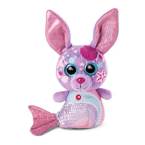 NICI 46827 Original – Glubschis Sirena Conejo Shellina de 15 cm I Juguete Suave para niños de 0 Meses y Adultos I Animal de Peluche con Grandes Ojos Brillantes, Color púrpura