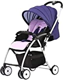 Cochecito de bebé Peso liviano recién nacido Carrera de bebé Conveniencia cochecito, cochecito de paraguas ligero con diseño de asiento reversible para orientación trasera y hacia adelante, pliegue co
