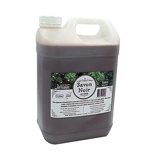 Savon noir Artisanal Naturel 4 parfums aux choix (Huile de Cade, 5 litres)
