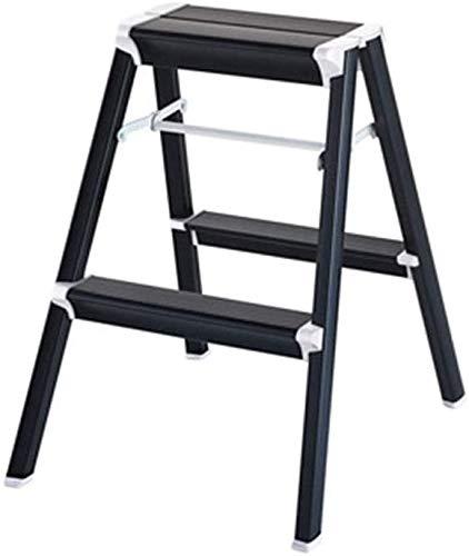 Taburete plegable para el hogar, taburete de escalada multifuncional, hecho de aleación de aluminio, plegable, fuerte capacidad de carga, se puede utilizar como mesa de café, estantería, etc. (B)