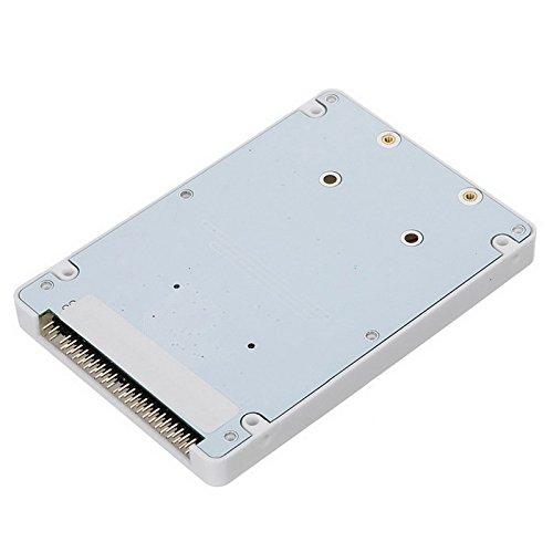 Cablecc mSATA Mini PCI-E SATA SSD auf 2,5 Zoll IDE 44pin Notebook Laptop Festplattengehäuse weiß
