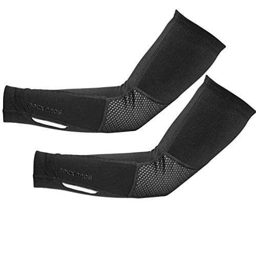 ROCKBROS Thermal Arm Sleeves Cycling Arm Warmers for Men Women Winter Arm Cover