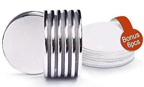 FEYG Neodym Magnete, Magnete Extra Stark Kühlschrankmagnet mit sehr starker Haftung für Glas-Magnetboards, Magnettafeln, 32x3 mm