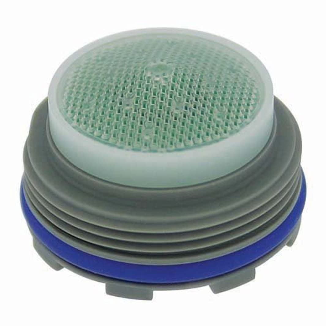 Neoperl 13 0300 5 Economy Flow PCA Cache Perlator HC Aerator, Junior Size, 1.5 GPM, Green/Clear Dome, Honeycomb Screen, Laminar Stream, M21.5 x 1 Threads, Plastic, 0.553