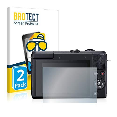 BROTECT 2X Entspiegelungs-Schutzfolie kompatibel mit Canon EOS M200 Bildschirmschutz-Folie Matt, Anti-Reflex, Anti-Fingerprint