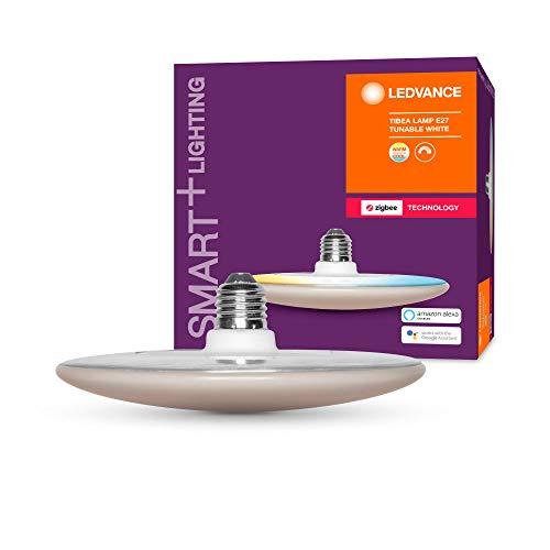 LEDVANCE Smart+ LED, ZigBee Lampe mit E27 Sockel, warmweiß bis tageslicht (2700K - 6500K), dimmbar, Direkt kompatibel mit Echo Plus und Echo Show (2. Gen.), Kompatibel mit Philips Hue Bridge