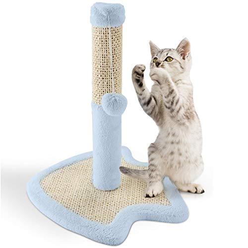 Nobleza - Katzenkratzbaum Kratzbaum mit Sisal für Kleine Katze Kletterturm für Kätzchen Kratzsäule Kletterbaum Spielturm mit Hängespielzeug für Katzen, Blau, 33,5 * 33,5 * 38 cm