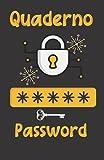 Quaderno Password: Agenda per conservare e organizzare codici. Password book tascabile in italiano. Idea regalo originale e utile per festa del papà , mamma