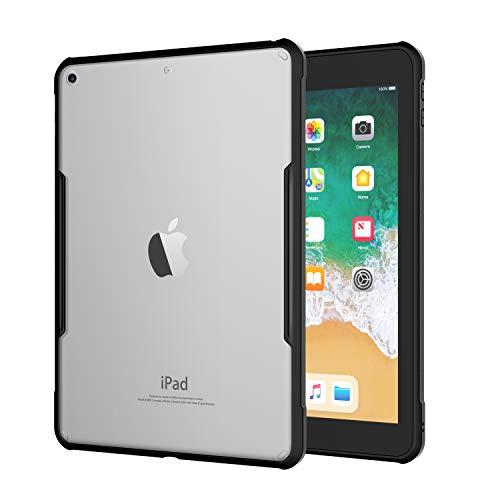 TiMOVO Custodia Protettiva Compatibile con iPad 9.7 2018/2017, Chiaro Cover Protezione in TPU Morbido e Resistente Trasparente AntiGraffio per iPad 9.7 iPad 5th / 6th Generation - Nero