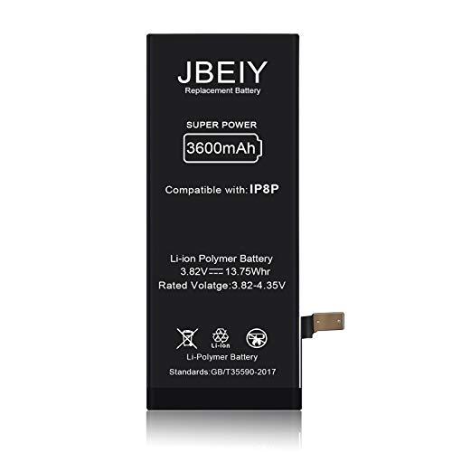 Batteria per i-Phone 8 Plus, JBEIY Nuova Batteria Sostitutiva ad alta Capacità da 3600 mAh, Senza Attrezzi e Nastro-1 Anno di Garanzia