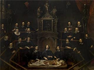 Perfect Effect Canvas ,the Beautiful Art Decorative Prints On Canvas Of Oil Painting 'Hubertus Sporckmans - Anatomy Lesson From J.B. Van Buyten In Antwerp,17th Century', 18x24 Inch / 46x61 Cm Is Best For Garage Gallery Art And Home Decoration And Gifts