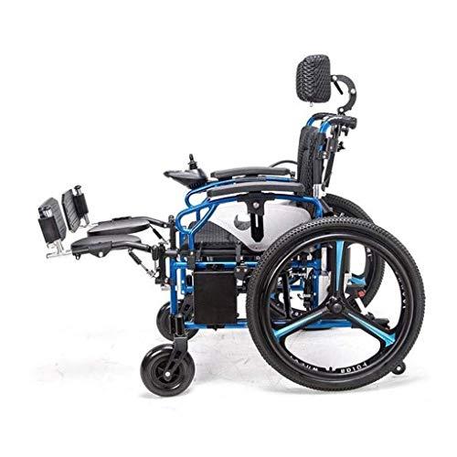 LBWT Casa Intelligente elektrische rolstoel, licht Anziaanse rolstoel, inklapbaar, met vier wielen voor het onderhoud van het voertuig, multifunctioneel, cadeau