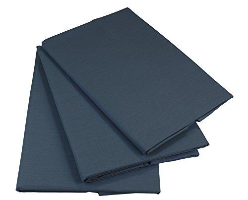 KMP know how in modern printing Bettlaken Betttuch Haustuch 100% Baumwolle ohne Gummizug viele Uni Farben (160 x 200 cm, Dunkelgrau)