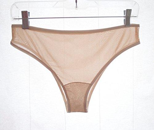 Sheer Skin Tone Panties with Ivory Trim. Beige Underwear. Homemade Lingerie