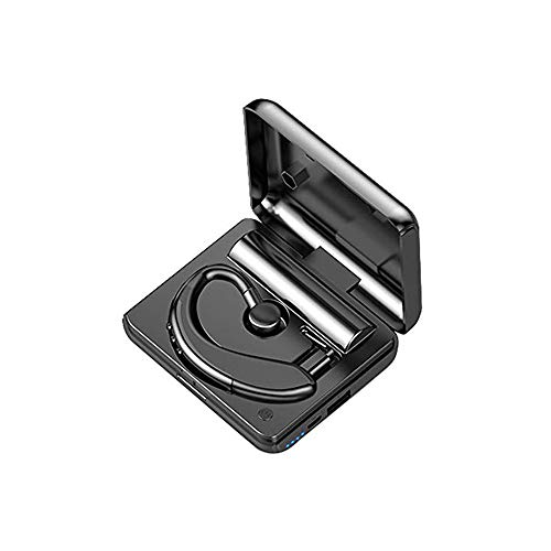Tiamu Auricular bluetooth con Estuche de Carga, Auriculares bluetooth no comerciales tipo oído colgante ABS Y10, Banda estéreo TWS, impermeable