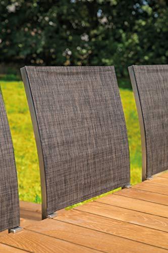 Greemotion Gartenbank SAN Diego aus Teak Holz-2 Sitzer Holzbank ohne Lehne-Garten Sitzbank wetterfest-Teakholz Bank massiv mit Edelstahl für draußen, Braun, 15,2 x 5 x 1,4 cm - 9