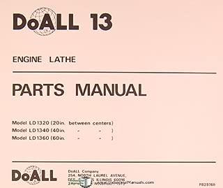 Doall 13, LD 1320 40 60, Engine Lathe, Parts Manual