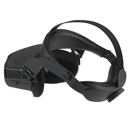 Esimen Verstellbarer Kopfgurt für Oculus Quest VR Comfort Foam Pad Strap, Ergonomisches Design Balance Gewicht, Entlasten Sie Face Squeeze (Schwarz)