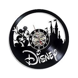 Levescale - Disney Castle Vinyl Wall Clock - Express Shipping Magic Kingdom - Perfect DeviantArt Gift for Child, Boy Or Girl - Decoration for Living Room - Walt Disney Cinderella Cartoon Disneyland