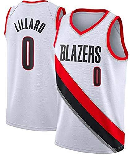Herren Damian Lillard #0 Trikots - NBA Portland Trail Blazers Stickerei Swingman Jerseys Basketball Spieltrikot Fan-Trikot Weste (S-XXL)