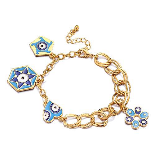 Gold Farbe Charme Muslimischen Islam Armbänder Für Frauen Mit Blume Armreif Arabischen Nahen Osten Afrikanischen Schmuck Äthiopischen Geschenke